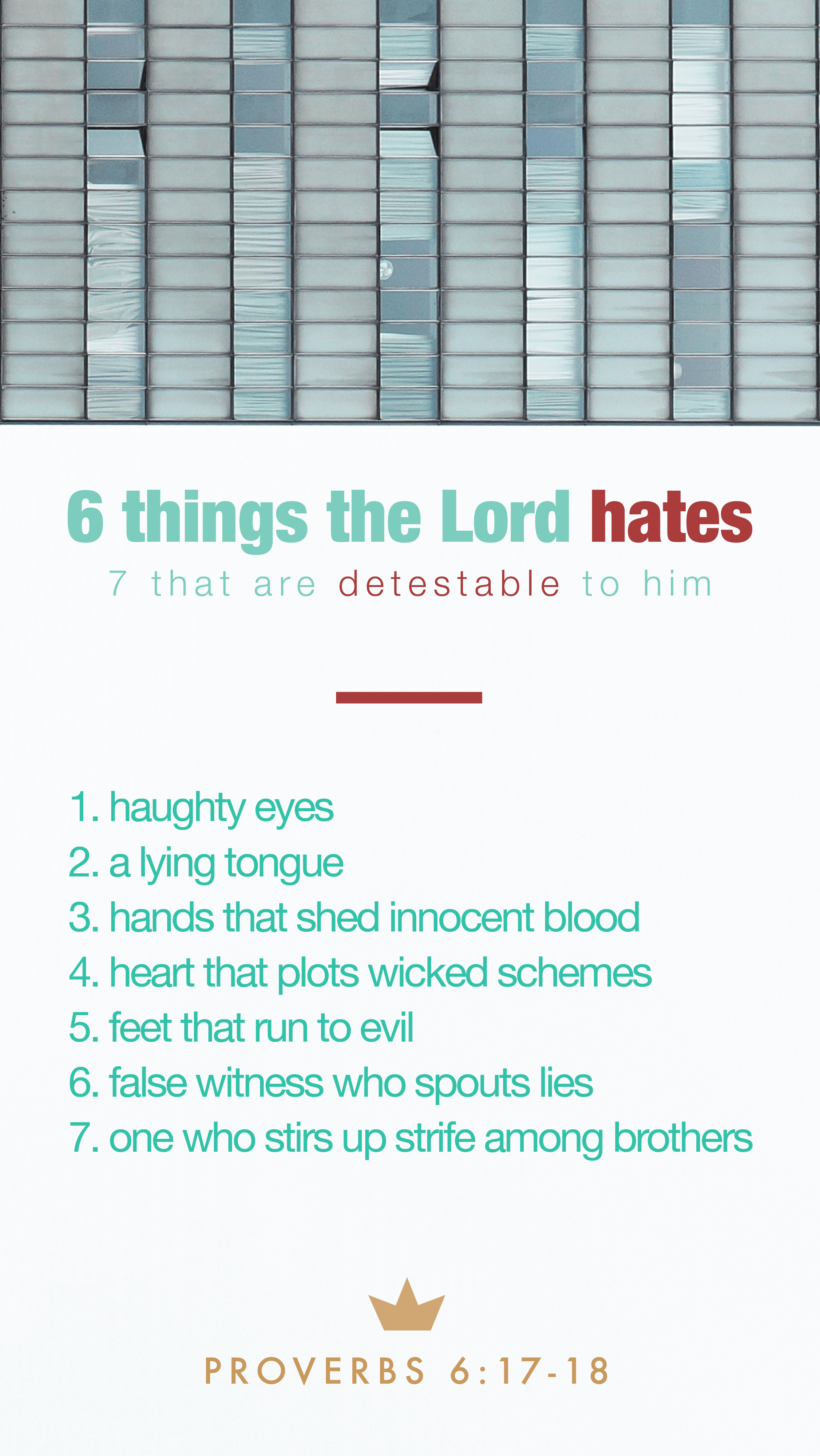 Proverbs – 6
